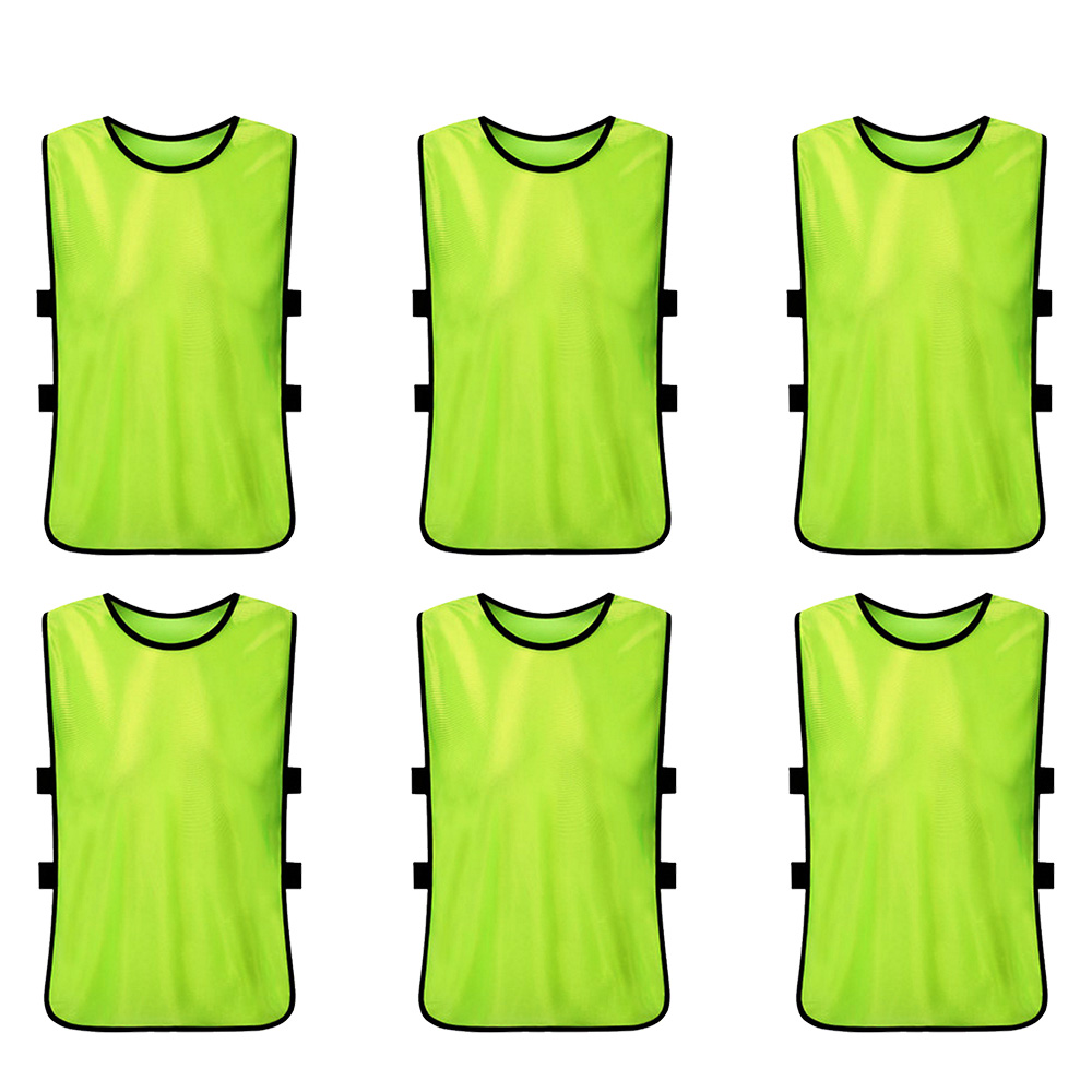 6 PCS Adults Soccer Training Pinnies Jerseys Quick Drying Football Vest for Team Training Basketball Football Soccer Practice