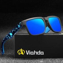 Viahda 2020 العلامة التجارية الجديدة الاستقطاب النظارات الشمسية الرجال كول السفر نظارات شمسية عالية الجودة نظارات Gafas مع صندوق