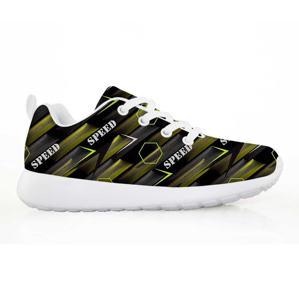 NOISYDESIGNS ילדי נעלי בני בנות אופנה מכתב הדפסת ילדים סניקרס לנשימה ריצה Tenis Infantil Zapatillas