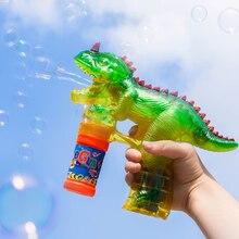 Bubble-Machine Music-Soap Dinosaur Blowing Wedding Kids Children with Flashing-Lights