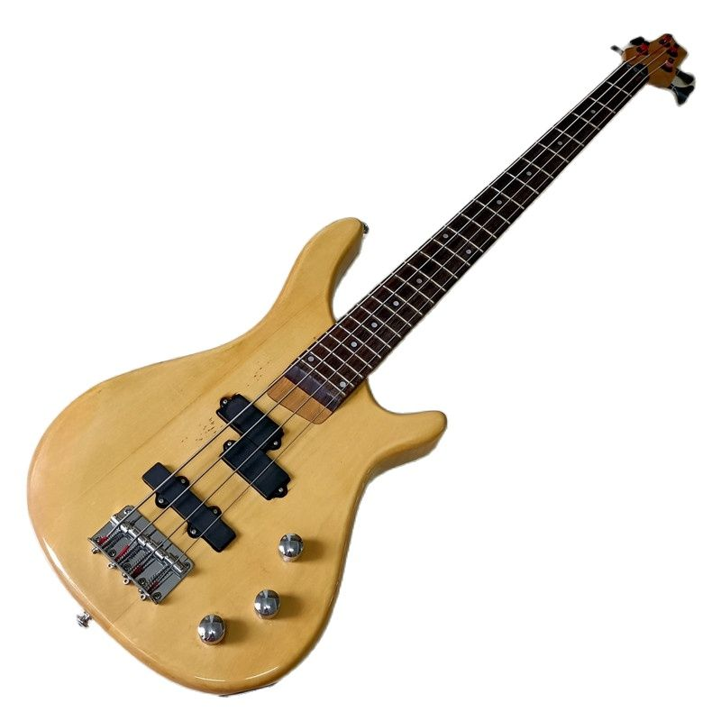 High gloss natural color 4 string bass guitar basswood body 43 inch solid wood with flaw