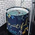 Neue Nordic Badewanne Erwachsene Nicht aufblasbare Badewanne Tragbare Falten Verdicken Umweltfreundliche Tuch Tief Einweichen Körper Bad Barrel