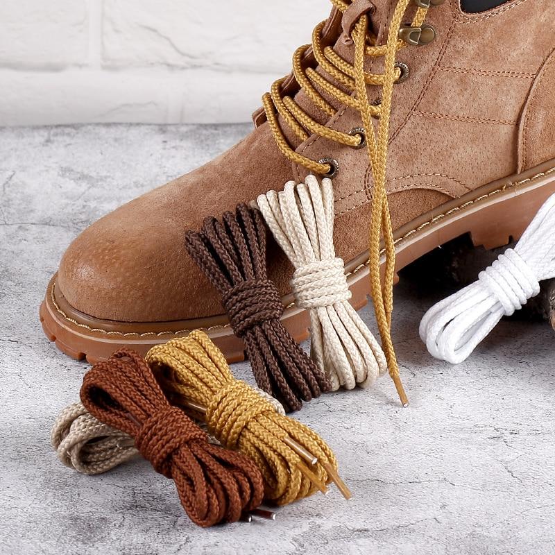 1 Pair 14 Colors Round Shoelaces Outdoor Sneakers Shoe Laces Solid Boots Shoelace Length 80cm 100cm 120cm 140cm 160cm Shoestring