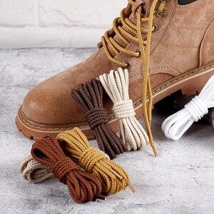 Image 1 - 1 Pair 14 Colors Round Shoelaces Outdoor Sneakers Shoe laces Solid Boots Shoelace length 80cm 100cm 120cm 140cm 160cm Shoestring
