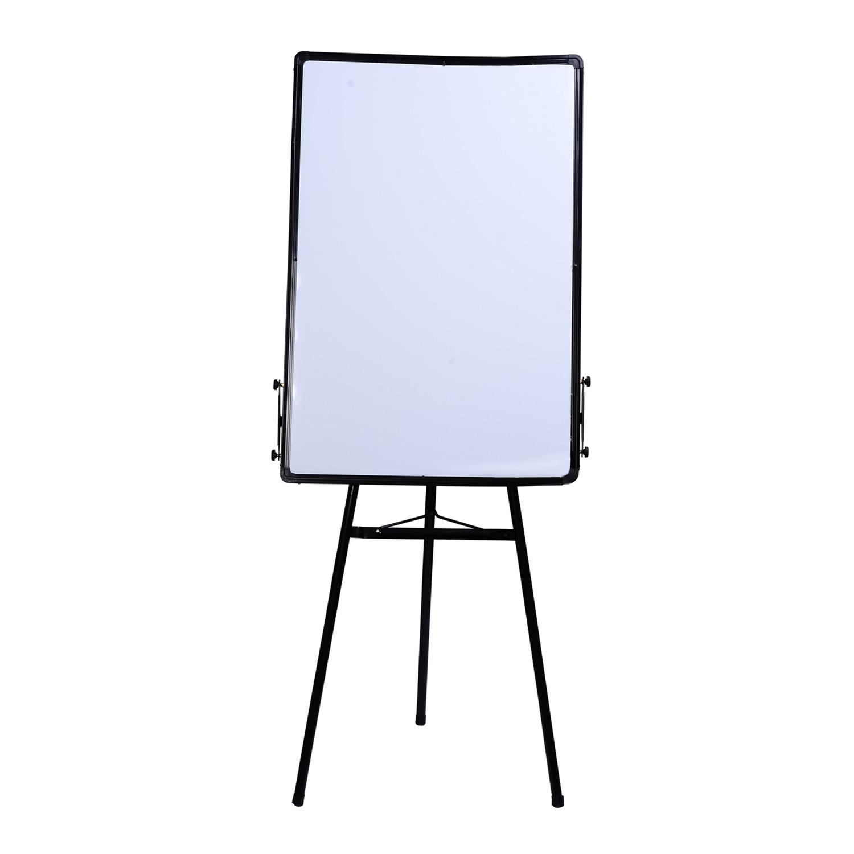 HOMCOM Blackboard Magentica White With Tripod Tripod Height Adjustable Aluminum Frame 60 × 90