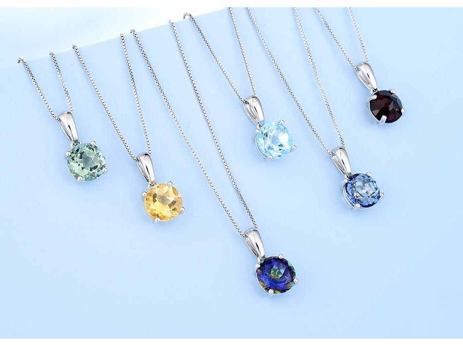 Silver Pendant Natural Blue  -  1mrk.com