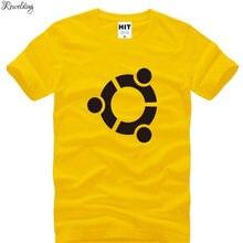 Camiseta de manga corta con cuello redondo para hombre, de algodón, con estampado de The Big Bang Theory, de Sheldon Ubuntu, camisetas para hombre