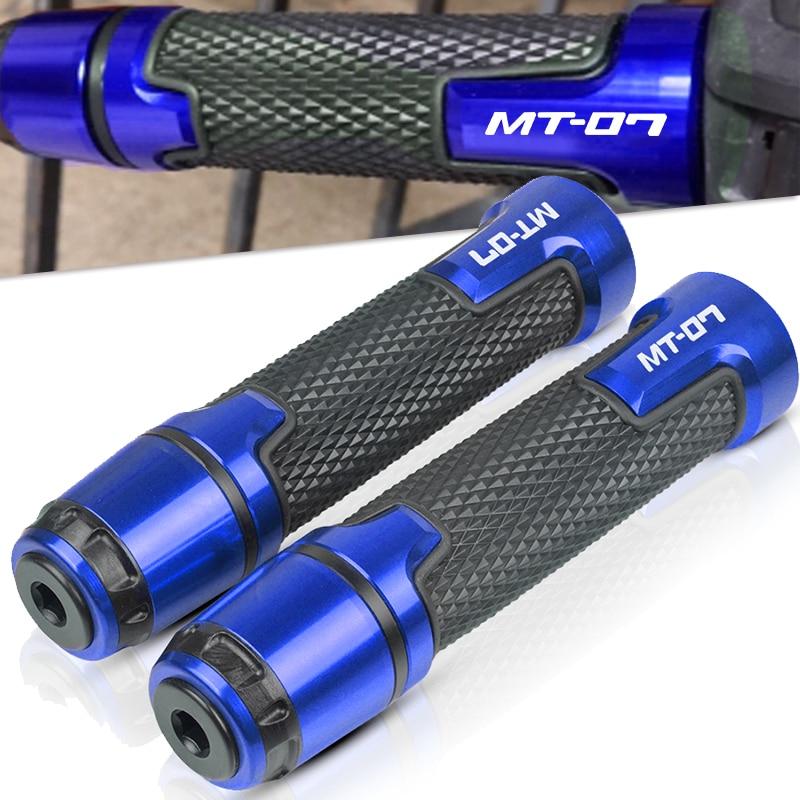 Color : Black XIAOZHIWEN Motorcycle Handlebar Caps Grips Ends for Yamaha MT07 MT 07 FZ07 FZ 07 2014 2015 2016 2017 2018 2019 Handle Bar Ends Cap Grip End