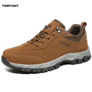 Image 1 - Hiking Camping Outdoor Shoes Men Breathable Climbing Trekking Mountain Boots Mens Fishing Hunting Sport Sneakers Shoe Plus Size