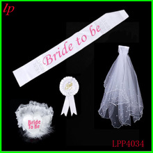 Bachelor party bride to be badge leg straps circle gauze suits with comb the veil Wedding decoration supplies