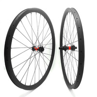 27.5er carbon mtb disc wheels 650B hookless 35x25mm tubeless mtb wheels DT240S boost 110x15 148x12 mtb bicycle disc wheels