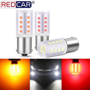 2pcs P21W 1156 BA15S Led Bulb P21/5W 1157 BAY15D R5W R10W Car Turn Signal Lamp White Yellow Auto Lamp Reverse DRL 12V 6000K