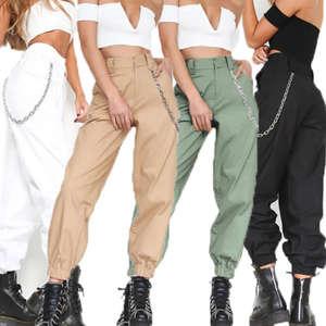 Dance-Pants Joggers Cargo-Trousers Hip-Hop Harajuku-Style Casual Women New-Fashion Camo