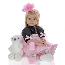 60 см прекрасный настоящий ребенок реборн малыш силиконовые виниловые куклы игрушки для детей подарок Принцесса одеваются кукла подарок bonecas