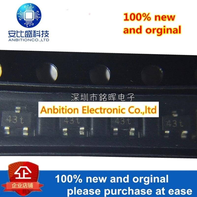 20pcs 100% New And Orginal BAT54CW Silk-screen 43t SOT323 30V 200mA In Stock