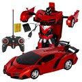 Радиоуправляемый автомобиль Трансформация Роботы спортивный автомобиль модель роботы игрушки Беспроводная зарядка крутая деформационна...