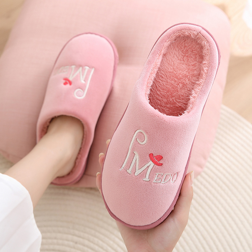 Jaycosin Home Slippers Women Men Couples Warm Slip On Anti-Skid Indoor Floor Slippers shoes woman winter shoes Indoor Slides 10 2