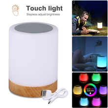 LED Rechargeable Warm Night Light RGB Desk Bedside Table Touch Sensor Night Lamp NEW lumiparty led table lamp sandglass sleep assistant nightlight rechargeable touch sensitive bedside night lamp minutes timer lamp