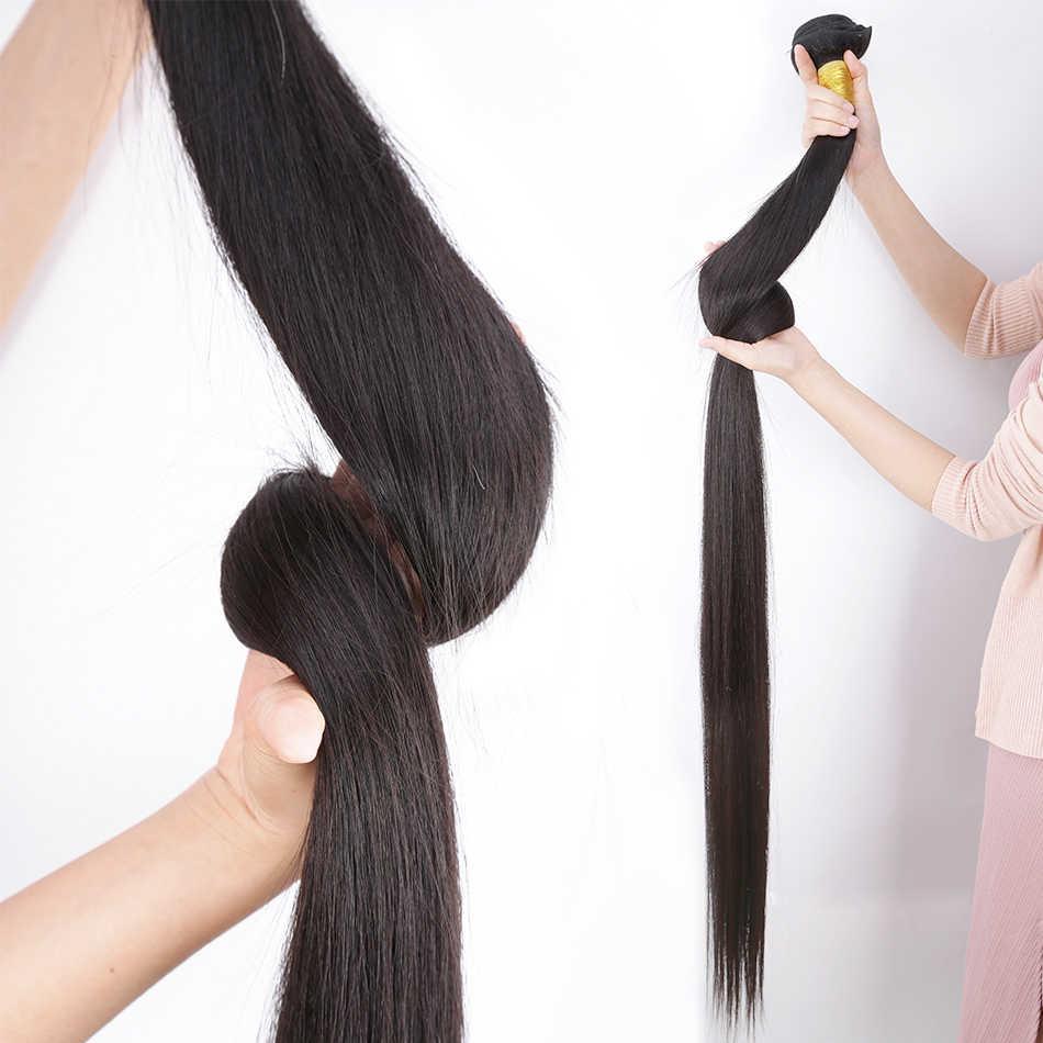 Wigirl prosto 8-28 30 32 40 Cal włosy brazylijskie remy wyplata wiązki 100% naturalny ludzki włos 1 3 4 wiązki oferty tkania