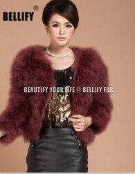Offre spéciale marque fourrure jackest automne et hiver mode véritable autruche plume manteau de fourrure outwear
