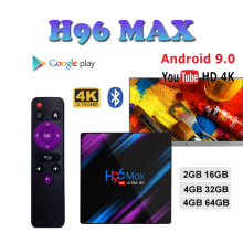 TV BOX H96 MAX-3318 smart tv box android 9.0 boxes Quad-Core 4GB Ram 32 GB/64 GB Rom 2.4/5.0G WiFi H.265 brasil