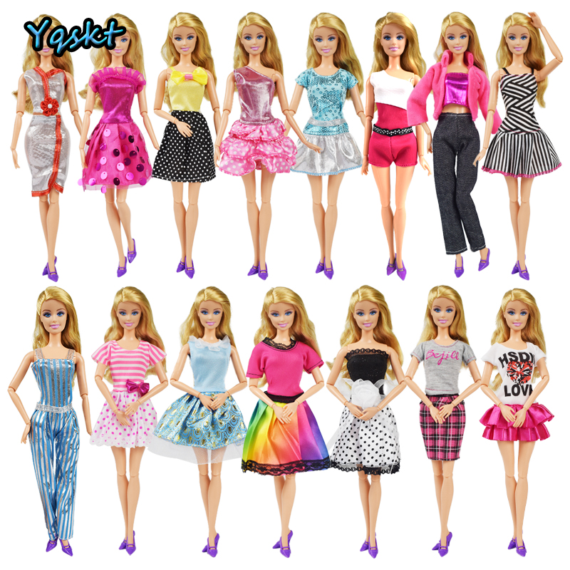 Fashion Party High Quality Doll Clothes Dress Accessories Best Gift Girl Toys Elegant Pants Skirt For Barbie Doll Accessories