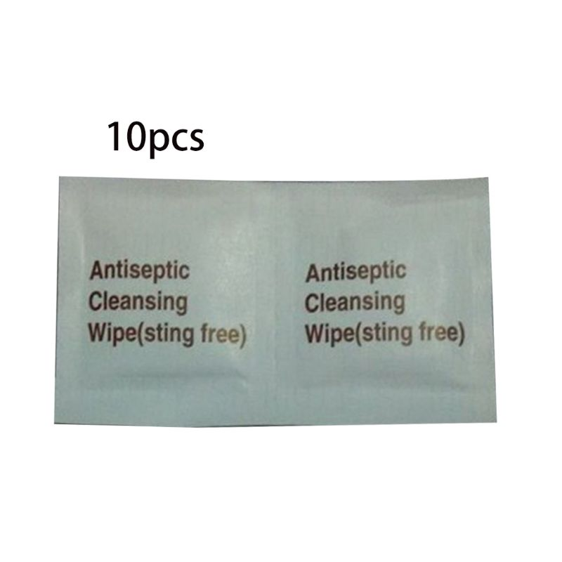 10Pcs Disposable First Aid Antiseptic Wipes Benzalkonium Chloride Cleansing Towelettes Antibacterial Sanitizer Individually Pack