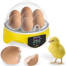 7 ovos de Galinha Incubadora de Ovos de Aves Papagaio Chocadeira Codorna Automático Inteligente para Uso Doméstico Frango Animais Acessórios Dropship