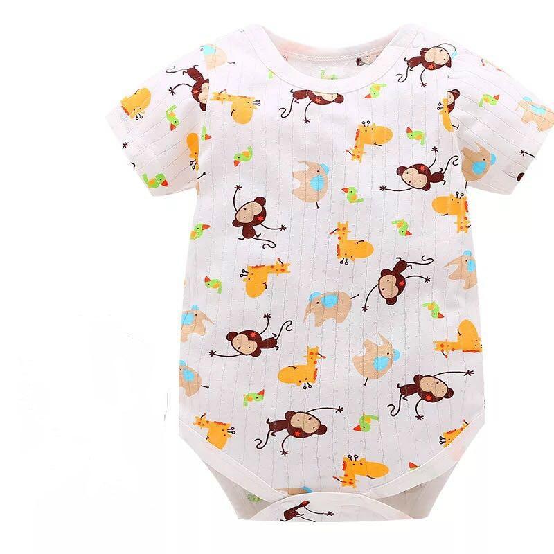 2018 New Fashion Baby Romper Unisex Cotton Short Sleeve Newborn Baby Clothes Jumpsuit Infant Clothing Set RRoupas Dee Bebee