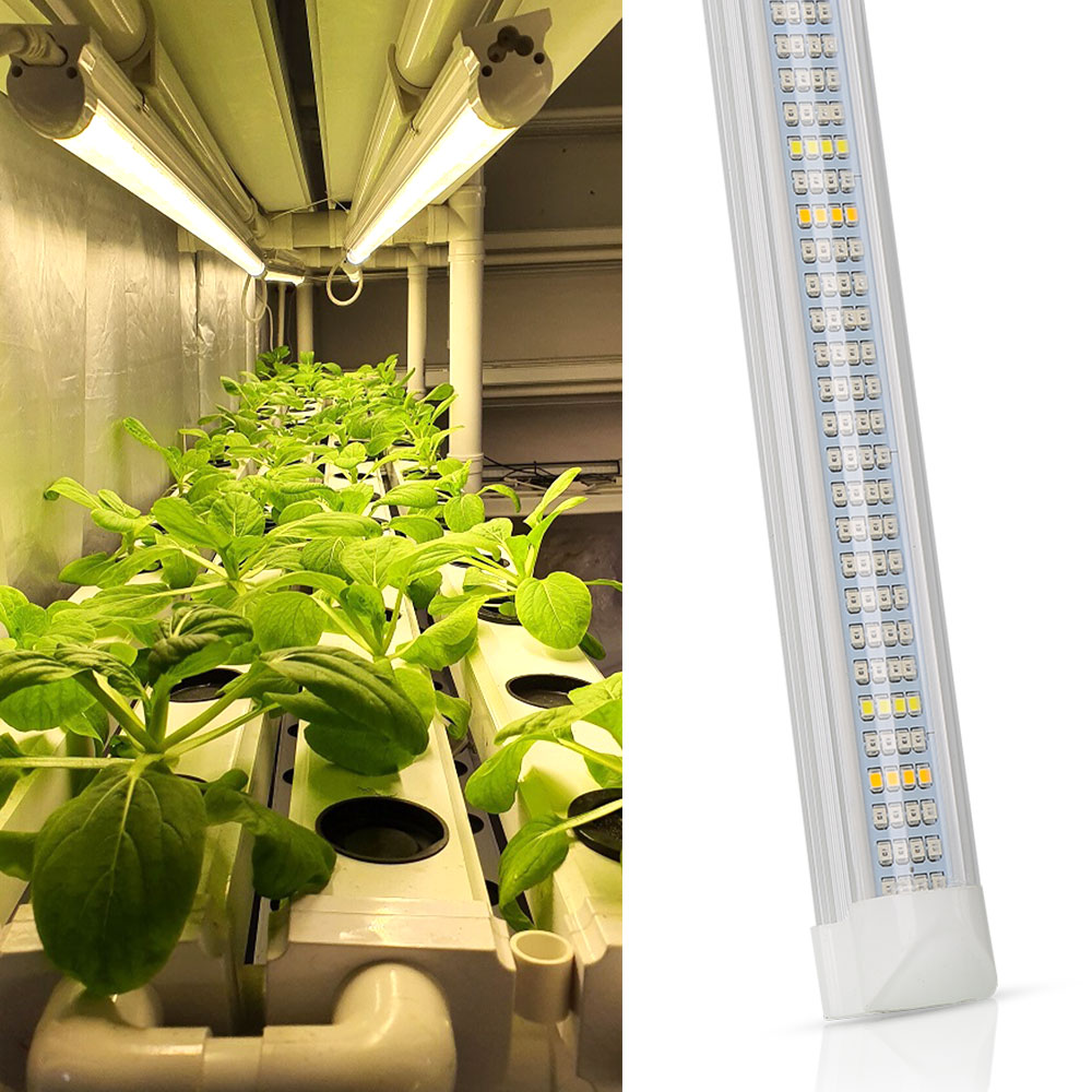 (10pcs/Lot) 120cm T8 LED Grow Light Tube Integrated Phyto Grow Bar For Indoor Plant Greenhouse Hydroponics System Grow Tent
