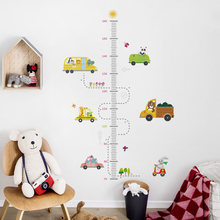 DICOR Cartoon Height Measure Wall Sticker for Kids Rooms Growth Chart Nursery Room Decor Kids Room Stickers Wall Decor Sticker(China)