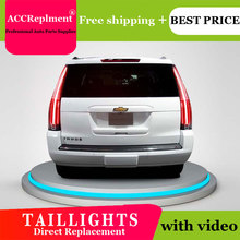 Car Styling LED Tail lights For Chevrolet Tahoe 15 16 Taillight LED Running light + Dynamic Turn Signal + Reverse + Brake A Set
