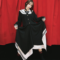 Japanese Harajuku style Teen Girl Irregular Skirt Stripes Stretch College Style Student JK Japanese style Skirt Casual Mori Girl