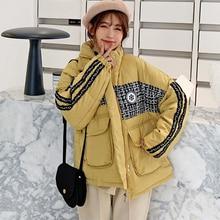 Women Fashion Hooded parkas 2019 winter Padded Jacket Coat Lady Mid-Long style J