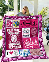 SOFTBATFY Volleyball Quilt Blanket for Bed Soft Dropshipping