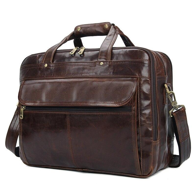 MAHEU Luxury Famous Brand Design Men Briefcase Genuine Leather Laptop Computer Bag For Business Travel Travelling Men Formal Bag