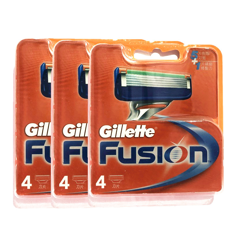 Original Gillette Fusion Men 5 Layer Replacement Refills Razor Blade Refills Face Care Brands Manual Shaving Blades 12pcs/BOX