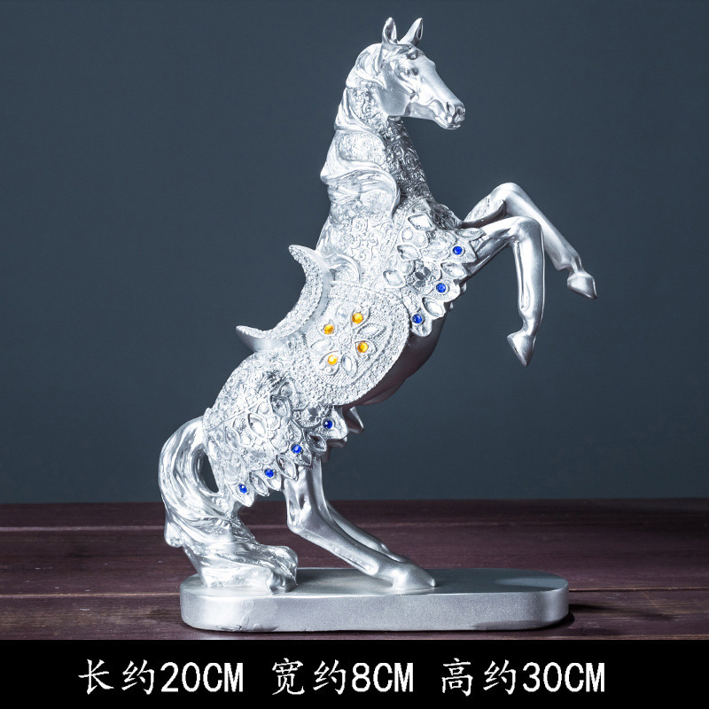 30cm résine or argent chanceux saut cheval Figure vin refroidisseur décoration américain rétro Art artisanat Figure modèle recueillir jouet cadeau