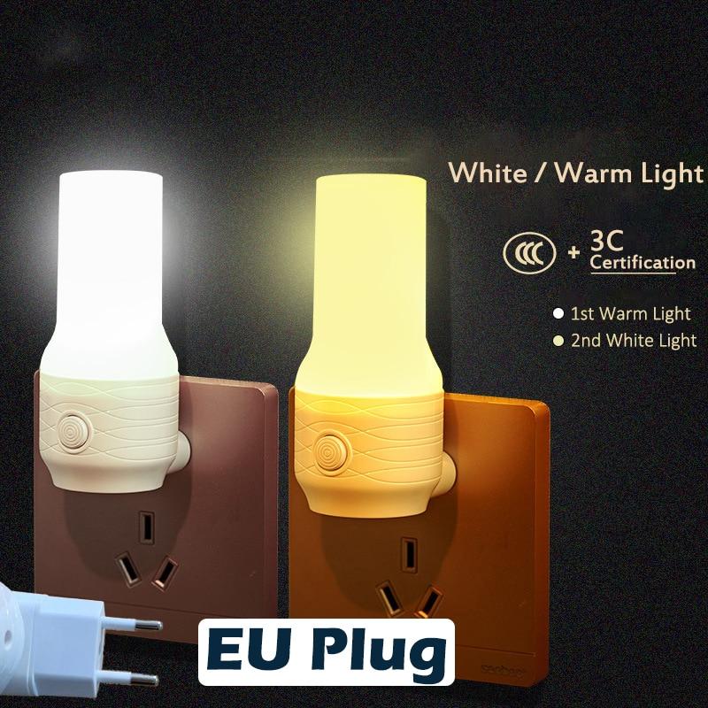 LED Night Light AC 110-220V LED MINI Night Light EU Plug Bedside Lamp Children Baby Bedroom Wall Socket Light Home Decoration