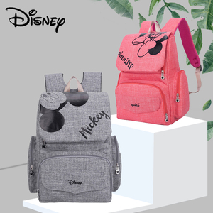 Image 1 - Disney Fashion Maternal Baby Diaper Bag For Mummy Mickey Minnie Diaper Backpack Stroller Bag Mickey Handbags Maternity Backpack