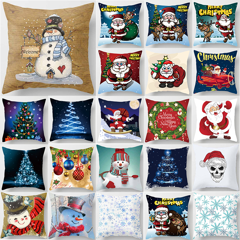 Fashion beauty Christmas pillow case two sides pattern pillow cases cover square pillow covers size 45*45cm