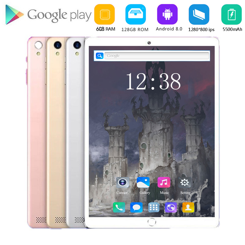 Global Version 10 Inch  4G LTE Android 8.1 Tablet Pc 4G Phone Call Wifi 10 Cores 6GB RAM 128GB ROM 5.0MP GPS Bluetooth Tabets