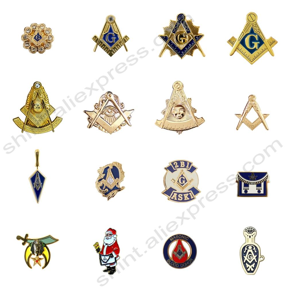 Masonic  Lapel Pins Badge Mason Freemason compass and square G eye  past master  Commemorative Freemasonry  accessories