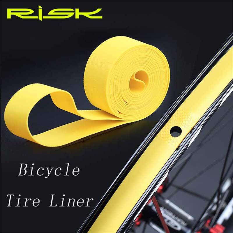 RISK 1 Pair 2 Pcs Bicycle Tube Premium PVC Rim Tapes Strips MTB Mountain Bike Road Bike Folding Tire Liner Cover 26 27.5 29 700c(China)
