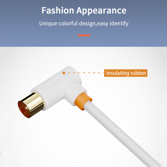 CABLETIME Digital TV Cable 90 degree M/F Coaxial Satellite Antenna Cable Video Cable for HD Television STB Line C317 2
