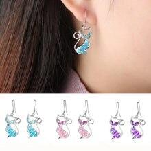 FDLKCute – boucles d'oreilles en forme d'animal pour femme, Imitation opale de feu, Zircon, accessoires, cadeau