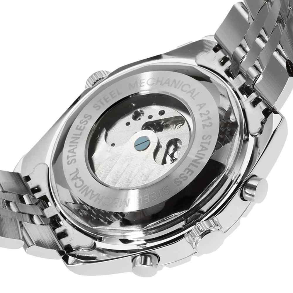 JARAGAR ブランドの高級時計男性トゥールビヨン機械式時計自動自己風機械式時計ステンレス鋼腕時計