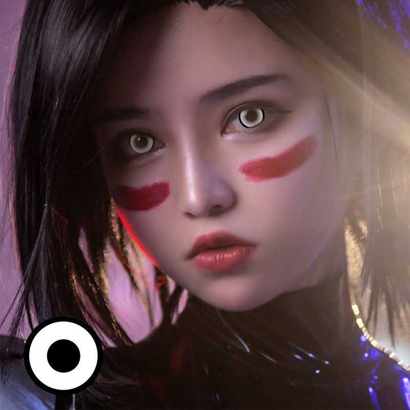 1 para = 2 szt. Cosplay piękny duży obiektyw źrenicy do oczu Halloween kolor soczewki kontaktowe piękno różnorodność kreskówka dziewczyna dekoracji