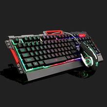 New Chocolates gaming Keyboard Mouse 3200DPI  Wired waterproof mechanical feel Computer LOL Competition Gamer Key mouse set цена в Москве и Питере