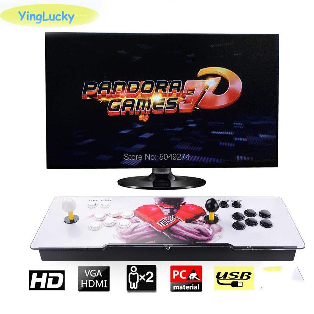Pandora Box 3d Arcade Box 2448 In 1 Zero Delay Saving Function Joystick Controller PCB 140 PCs 3D Games Retro Arcade Console
